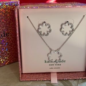 KATE SPADE SCRUNCHED SCALLOPED JEWELRY SET